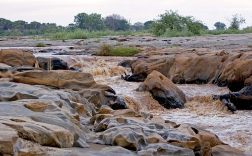 Lugard Falls in Tsavo East National Park