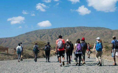 Mountain hiking at Mount Longonot