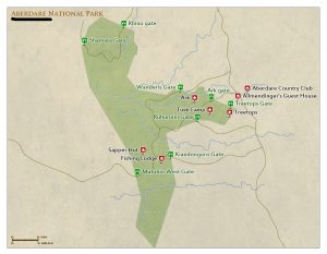 Aberdare National Park Kenya map