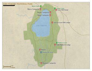 Lake Nakuru National Park Map