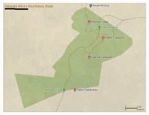 Shimba Hills National Reserve map