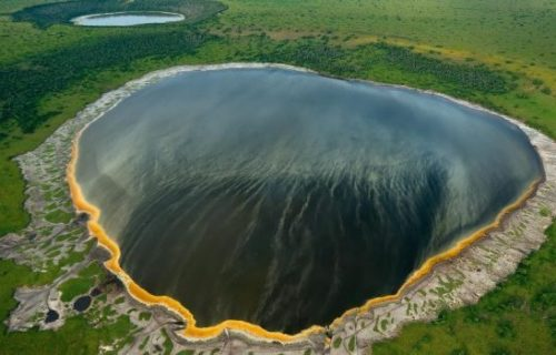The Katwe explosion crater